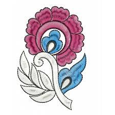 new flower machine embroidery design