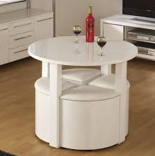 Space Saver Dining Set Table Four Chairs Space Saving Dining Table Small Breakfast Room White High Gloss