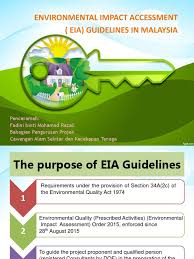 Council On Environmental Quality Guidelines Eia Guidelines In Malaysia Environmental Impact Assessment