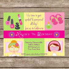 free printable pamper party invitations b day pinterest