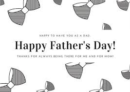 white step dad fathers day card templates by canva