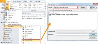 2 quick methods to create new emails from a template with outlook