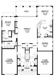 mission floor plans mission style in two versions 36346tx architectural designs