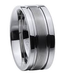 Tungsten Carbide Mens Wedding Rings by Tungsten Carbide Men U0027s Wedding Ring Classic Modern Grooves 8mm