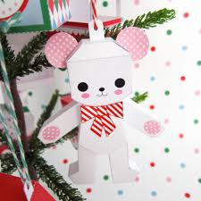 teddy in box rocking ornaments printable paper