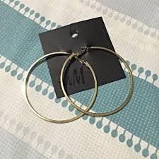 hm earrings h m hoop earrings h m hoop earrings preloved women s fashion on