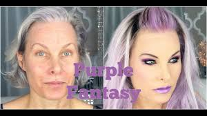 hair and make up artist on love lust or run fantasy purple makeup and hair on a mature face youtube