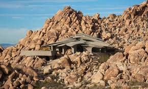 one with the desert staggering residence in joshua tree