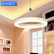 lustre bureau modern simple led lighting white ring chandelier for diningroom bar