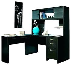 Black L Shaped Desk With Hutch Black Desk With Hutch Modern Black Computer Desk With Storage