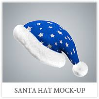 blue santa hat santa hat mock up by webandcat graphicriver