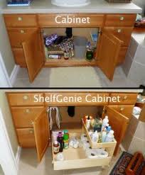 Bathroom Vanity Storage Organization I Never Thought Of Attaching Those Cabinet Racks To The