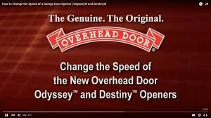 Legacy Overhead Garage Door Opener by Programming Your Opener