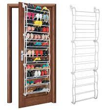 36 pair over the door hanging shoe rack shelf storage stand
