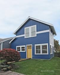 a backyard cottage nearing completion the cottage footprint is a
