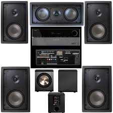 top rated home theater subwoofer amazon com klipsch r 2650 w in wall 5 1 home theater system r