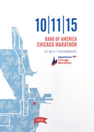 Chicago Map Poster by 2015 Bank Of America Chicago Marathon Map Print Chicago Tribune
