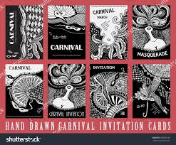 vector set 8 abstract cards carnival stock vector 366066188