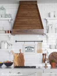 Range Hood Ideas Kitchen White Kitchen With Wood Range Hood Home Kitchen Pinterest