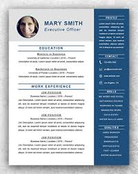 executive resume template executive resume template word resume template start