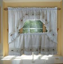 Kitchen Curtains Valances And Swags by Aliexpress Com Buy Strawberry Embroidery Curtains Valance Swag