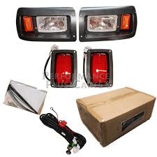 club car ds golf cart headlight and tail light kit with adjustable