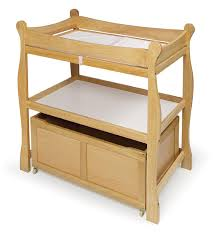 Sleigh Changing Table Badger Basket Sleigh Changing Table With Rolling Lower Bin