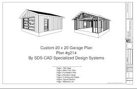 Garage Plans Sds Plans by Free Premium Members Download G215 20 X 20 Garage Plans Free