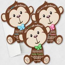 colors free printable monkey baby shower invitations
