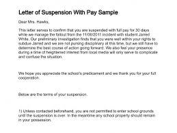 payment letter format letter of suspension