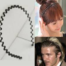 hairband men new 2x men women black wave hair band headband metal biker