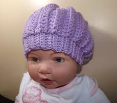 crochet baby hat with ruby stedman