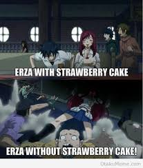 Fairy Tail Funny Memes - fairy tail gray fullbuster erza scarlet cake fairy tail memes