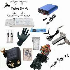 tattoo kit beginner rotary tattoo machine needle gun equipment ink