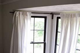 home decor curtain rods for bay windows modern home decorating