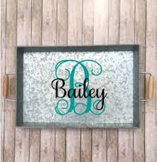 personalized serving plates wooden tray breakfast tray personalized serving tray