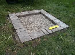 Square Firepit How To Build A Square Pit Home Design Garden