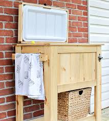 patio deck cooler stand reveal u2022 sweet parrish place