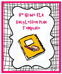 8th grade weekly common core language arts lesson plan template tpt