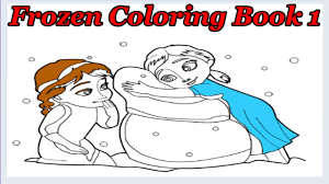 frozen coloring book 1 kids game disney princess coloring game