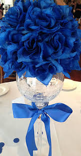blue centerpieces all about the presentation greenwich wedding bridal favors