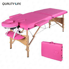 used portable massage table for sale 84 l pink fold portable massage table spa beauty bed tattoo