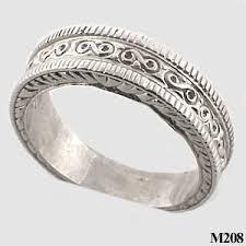 fancy wedding rings sterling silver mens antique fancy wedding band