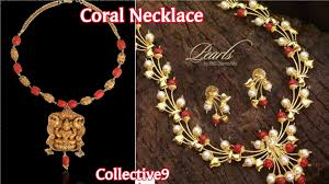 beautiful coral necklace designs