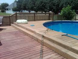 aluminum pool decks above ground pools deck cost estimator with