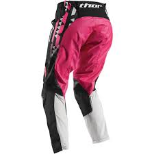 womens motocross jerseys thor 2017 mx new pulse facet jersey pants white pink womens