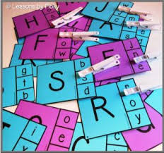 free alphabet clip cards match the uppercase letters with the