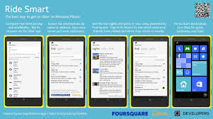 how to get android apps on windows phone developer ride smart uber and foursquare for your
