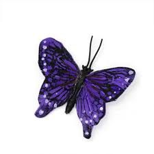 small purple butterfly accent hat society store