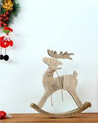 handmade original wood deer for home decor christmas gift